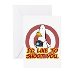 WTD: I'd like to shoot you Greeting Cards (Pk of 1