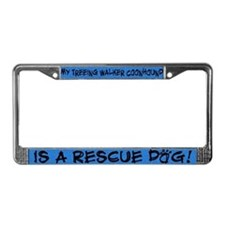 Rescue Dog TW Coonhound License Plate Frame