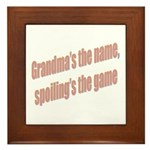 Grandma's the name Framed Tile
