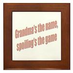 Grandma's the name Framed Tile