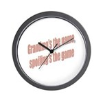 Grandma's the name Wall Clock