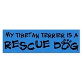 Rescue Dog Tibetan Terrier Bumper Bumper Sticker