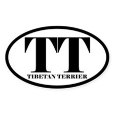 TT Abbreviation Tibetan Terrier Decal