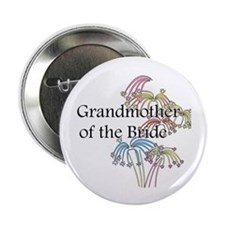 "Fireworks Grandmother of the Bride 2.25"" Button (1"