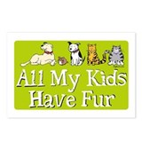 All My Fur Kids Postcards (Package of 8)