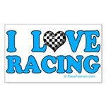 Love Racing 5 Rectangle Sticker