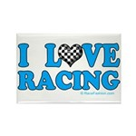Love Racing 5 Rectangle Magnet