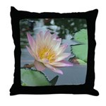 Tropical Pink Water Lily Throw Pillow
