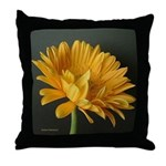Yellow Gerber Daisy Throw Pillow