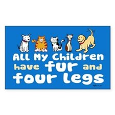 All My Fur Children Rectangle Decal