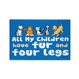 All My Fur Children Rectangle Magnet (100 pack)