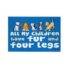 All My Fur Children Rectangle Magnet
