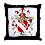 Elben Family Crest Throw Pillow