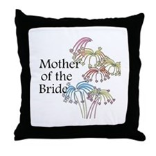 Fireworks Mother of the Bride Throw Pillow