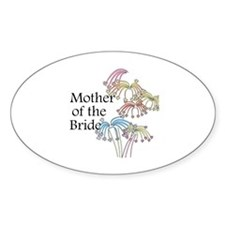 Fireworks Mother of the Bride Oval Decal