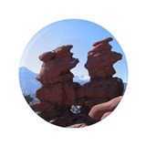 "Funny Pikes peak 3.5"" Button"