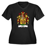 Ehler Family Crest Women's Plus Size V-Neck Dark T