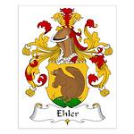 Ehler Family Crest Small Poster