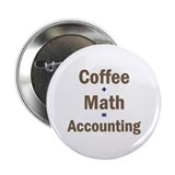 "Coffee + Math = Accounting 2.25"" Button"