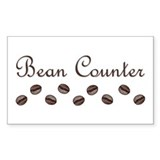 Bean Counter Coffee Beans Rectangle Decal