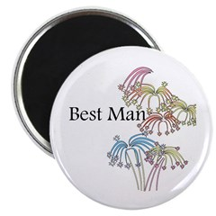 "Fireworks Best Man 2.25"" Magnet (10 pack)"
