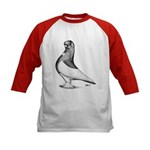Ancient Shortface Pigeon Kids Baseball Jersey