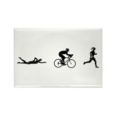 Women's Triathlon Icons Rectangle Magnet