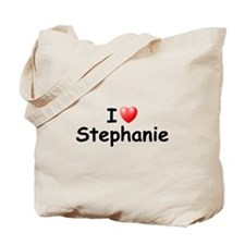 I Love Stephanie (Black) Tote Bag