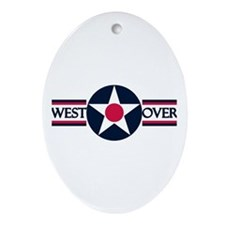 Westover Air Force Base Oval Ornament