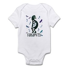 Kokopelli with Musical Notes Infant Bodysuit