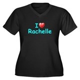 I Love Rachelle (Lt Blue) Women's Plus Size V-Neck