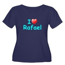 I Love Rafael (Lt Blue) Women's Plus Size Scoop Ne
