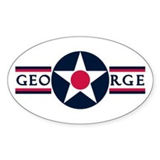 George Air Force Base Oval Decal