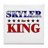 SKYLER for king Tile Coaster
