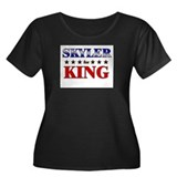 SKYLER for king Women's Plus Size Scoop Neck Dark