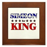 SIMEON for king Framed Tile
