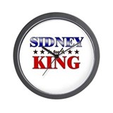 SIDNEY for king Wall Clock