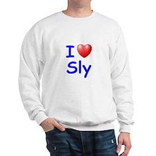 I Love Sly (Blue) Sweatshirt