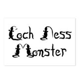 Loch Ness Monster Text Postcards (Package of 8)