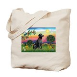 Bright Country & Black Lab Tote Bag