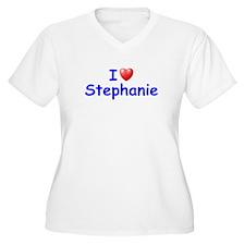 I Love Stephanie (Blue) T-Shirt