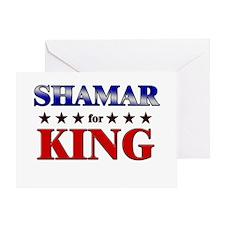 SHAMAR for king Greeting Card