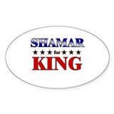 SHAMAR for king Oval Decal