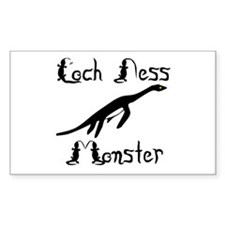 Loch Ness Monster Rectangle Decal