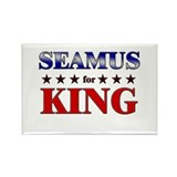 SEAMUS for king Rectangle Magnet