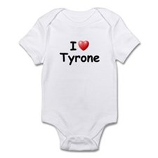 I Love Tyrone (Black) Infant Bodysuit