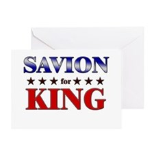 SAVION for king Greeting Card