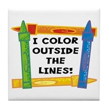 Color Outside The Lines Tile Coaster