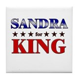 SANDRA for king Tile Coaster