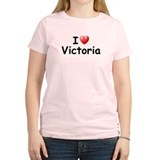 I Love Victoria (Black) T-Shirt